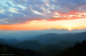 Maggie Valley Sunset - Photography by Michelle McCain of Hendersonville, NC