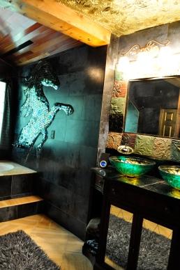 Villa Roma Master Bath, Hendersonville, NC by Hennessy Floor