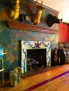 Vila Roma Masaic Fireplace, located in Hendersonville, NC
